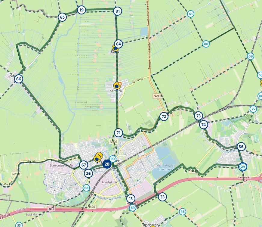 Koningstocht route